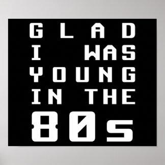 Alegre era joven en los años 80 póster