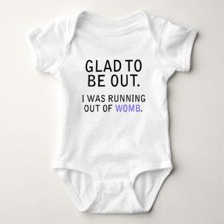 Alegre estar hacia fuera. Corría de la matriz Body Para Bebé