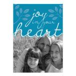 alegría 5x7 en su tarjeta plana el   del corazón invitaciones personalizada