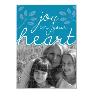 alegría 5x7 en su tarjeta plana el | del corazón invitaciones personalizada