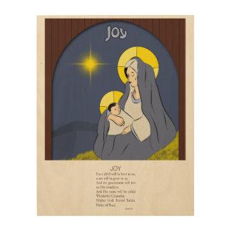 Alegría, 9:6 de Isaías Impresiones En Madera