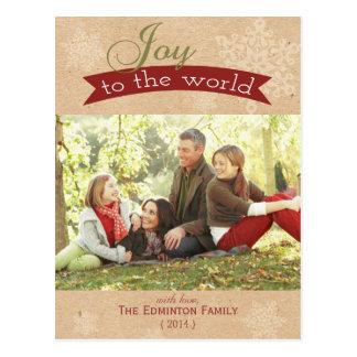 Alegría a la postal del día de fiesta del navidad