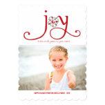 Alegría a la tarjeta de la foto del día de fiesta invitación 12,7 x 17,8 cm
