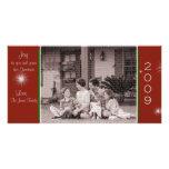 Alegría a su y su tarjeta de Navidad de la familia Tarjetas Personales