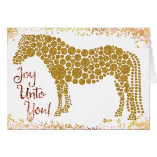 Alegría a usted tarjeta de felicitación del potro