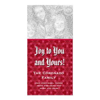Alegría a usted y el suyo nombre del personalizado tarjetas fotográficas personalizadas