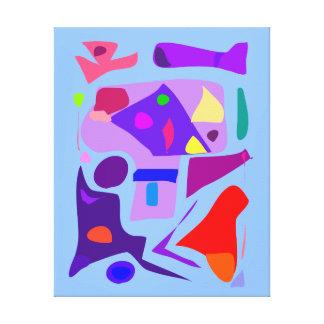 Alegría abstracta 138 de la buena suerte de la lienzo envuelto para galerias