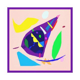 Alegría abstracta de la buena suerte de la impresión en lona