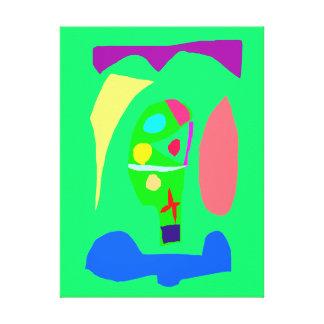 Alegría abstracta de la buena suerte de la impresiones en lienzo estiradas