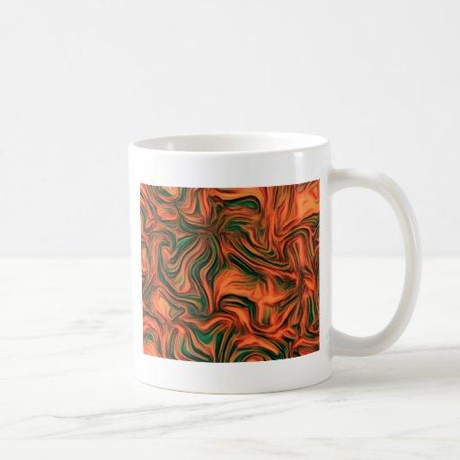 alegría abstracta, roja tazas de café