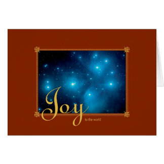 Alegría al cúmulo de estrellas de Pleiades del mun Tarjetón