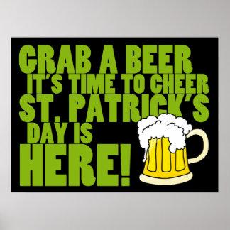 Alegría al día de St Patrick Poster