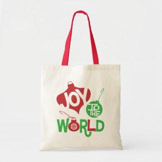 Alegría al mundo bolsa tela barata