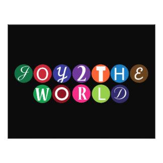"""Alegría al mundo folleto 8.5"""" x 11"""""""