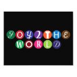 Alegría al mundo invitación 10,8 x 13,9 cm