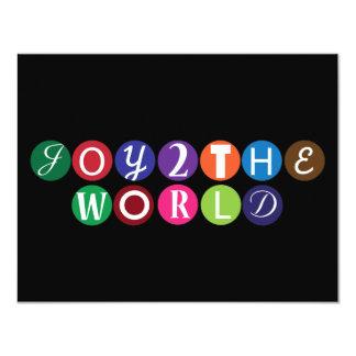"""Alegría al mundo invitación 4.25"""" x 5.5"""""""