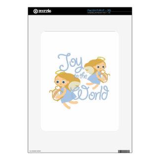 Alegría al mundo iPad calcomanías