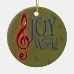 ALEGRÍA al mundo Ornamento Para Reyes Magos
