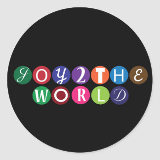 Alegría al mundo etiqueta