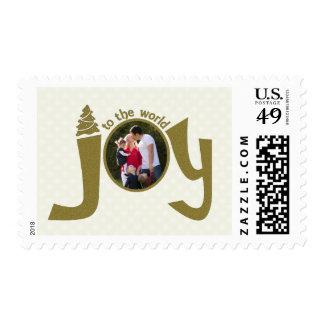 Alegría al mundo personalizado sello