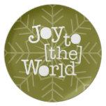 Alegría al mundo plato