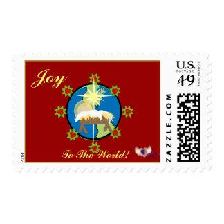 ¡Alegría al mundo! Sello-Personalizar postal Sellos