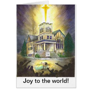 ¡Alegría al mundo! Tarjeta De Felicitación