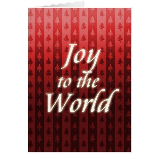 Alegría al mundo - tarjeta de Navidad