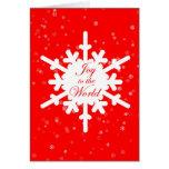 Alegría al mundo - tarjeta de Navidad - escama de