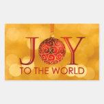 Alegría al pegatina del mundo