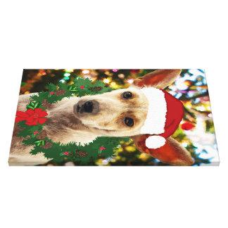 Alegría al perrito del thee impresiones en lienzo estiradas