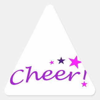 Alegría arqueada con las estrellas pegatina triangular