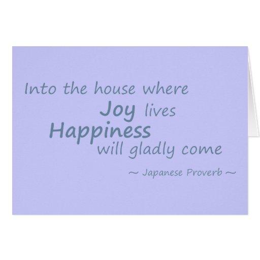 Alegría, azul del lt de la felicidad tarjetón