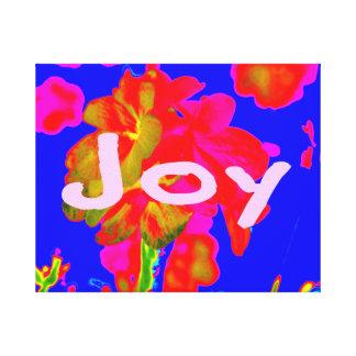 alegría azul magenta de la flor abstracta impresiones en lona estiradas