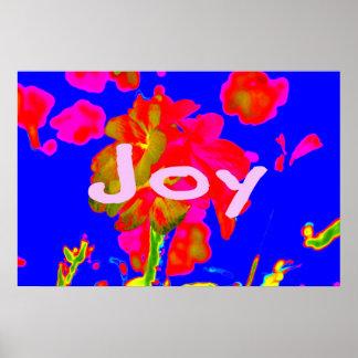 alegría azul magenta de la flor abstracta impresiones