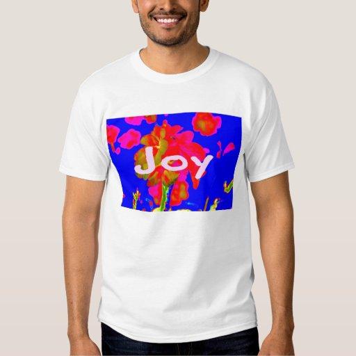 alegría azul magenta de la flor abstracta playera