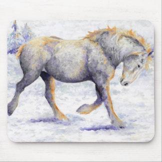 Alegría - cojín de ratón del caballo de Percheron Tapete De Ratones