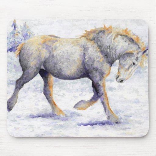 Alegría - cojín de ratón del caballo de Percheron Tapetes De Ratón