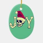 Alegría - cráneo de Santa Ornamentos De Reyes Magos