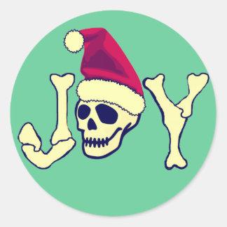 Alegría - cráneo de Santa Pegatina Redonda