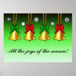 Alegría de Belces de navidad de la estación Impresiones