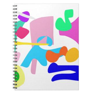 Alegría de encargo del color de fondo libretas