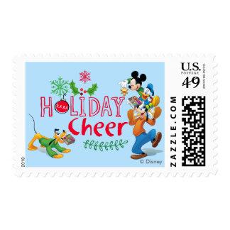 Alegría de extensión del día de fiesta de Mickey Sellos Postales