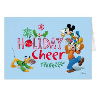 Alegría de extensión del día de fiesta de Mickey Tarjeta De Felicitación