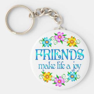 Alegría de la amistad llavero redondo tipo pin