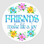 Alegría de la amistad pegatinas redondas
