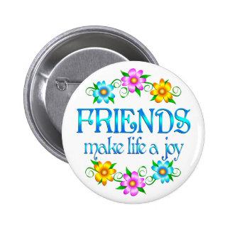 Alegría de la amistad pin redondo 5 cm