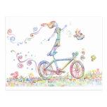 Alegría de la bicicleta tarjetas postales