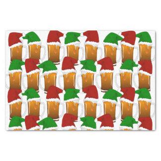 Alegría de la cerveza del navidad papel de seda pequeño