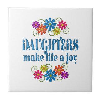 Alegría de la hija azulejo cuadrado pequeño